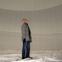 Christo inside Big Air Package