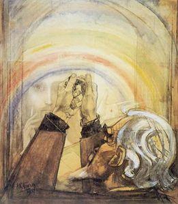 Het gebed (zelfportret Toorop)